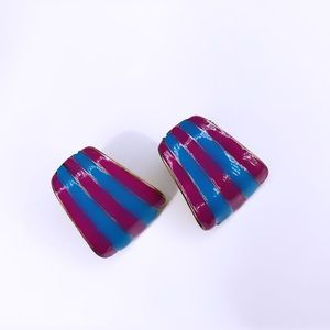 Go to magenta and blue stud earrings